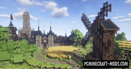 Fallhorntal - Building, Castle Map For Minecraft