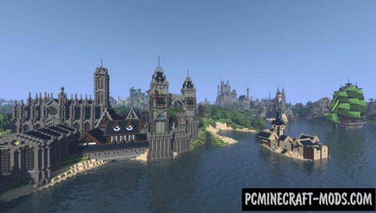 Fallhorntal - Building, Castle Map For Minecraft