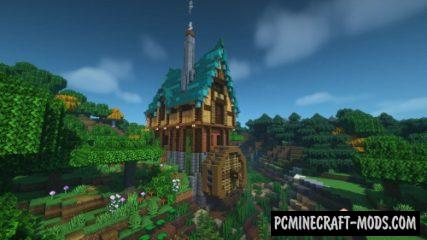 Fantasy Watermill House Map For Minecraft
