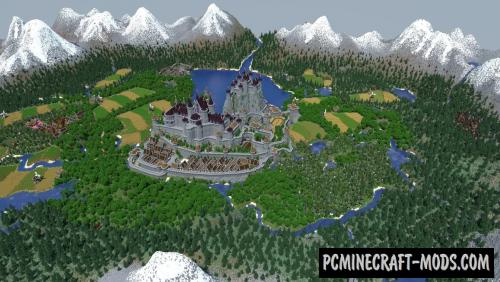 Snowcoal's Medieval Kingdom Map For Minecraft