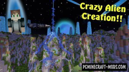 Insane Alien Parkour! Map For Minecraft
