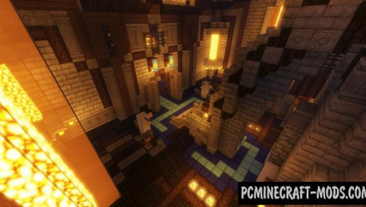 Sphen Keep - Town, Buildings Map For Minecraft