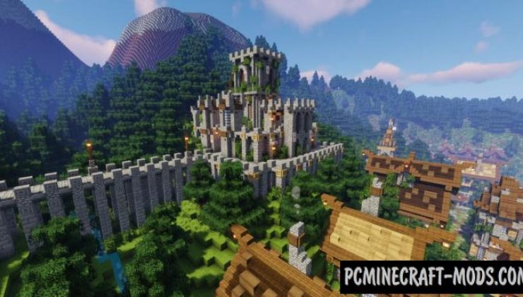 Hillsdale - Town, Buildings Map For Minecraft