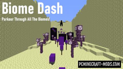 Biome Dash - Speedrun, Parkour Map For Minecraft