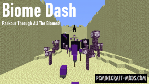 Biome Dash - Speedrun, Parkour Map For Minecraft