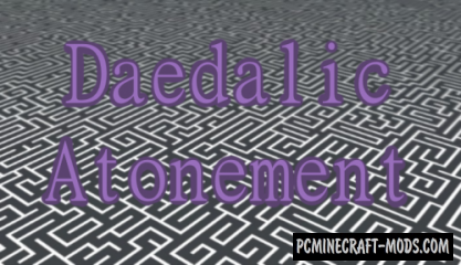Daedalic Atonement - Puzzle Map For Minecraft