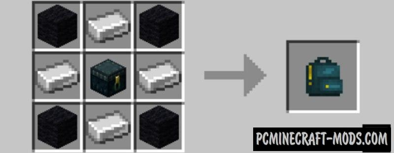 Useful Backpacks - Large Inventory MC Mod 1.17.1, 1.16.5, 1.12.2