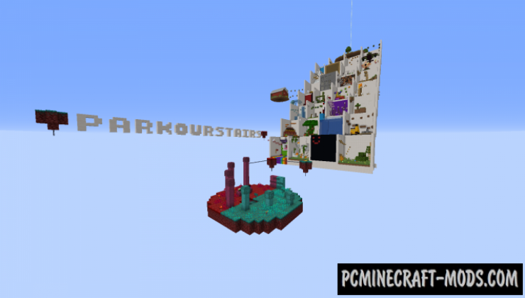 Parkour Stairs Map For Minecraft
