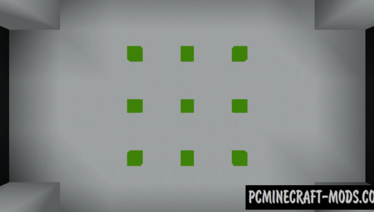 Green Lights 3x3 - Puzzle Map For Minecraft