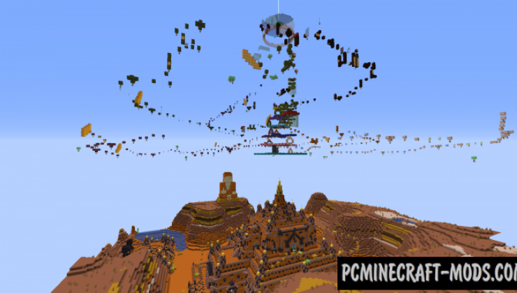 Only Parkour 2: Thatbyinnyu Temple Map For Minecraft
