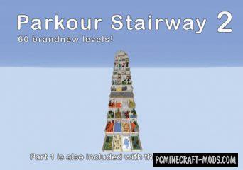 Parkour Stairway 2 Map For Minecraft