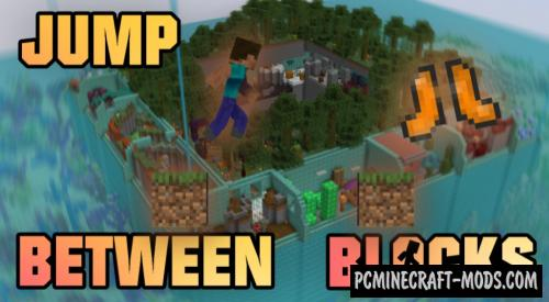 Jump Between Blocks - Parkour Map For Minecraft