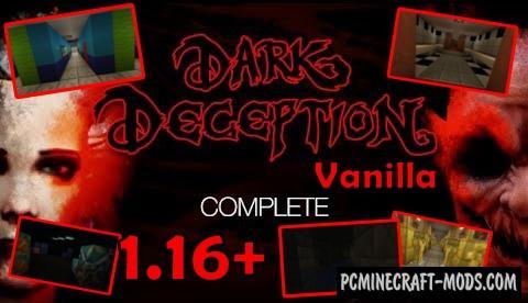 Dark Deception Vanilla - Horror, MiniGames Map For MC