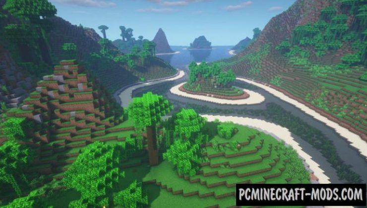 Adventure Island - Custom Terrain Map For Minecraft