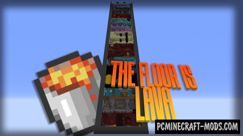 The Floor Is Lava - Escape, Parkour Map For Minecraft
