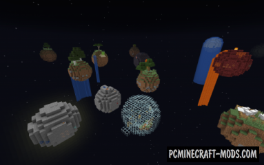 Floating Planets Survival Map For Minecraft