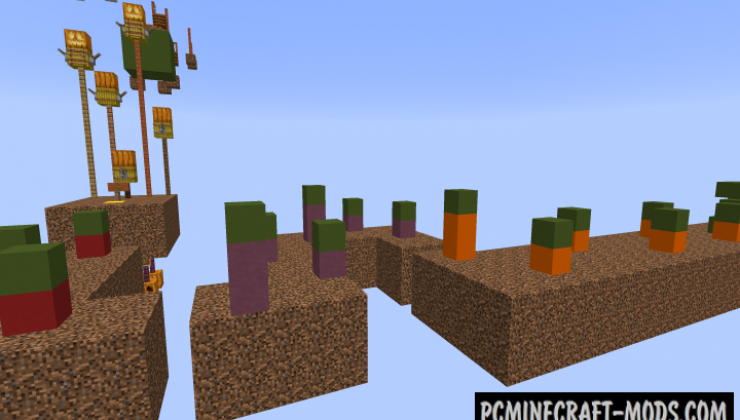 Sky Of Colours Parkour Map For Minecraft