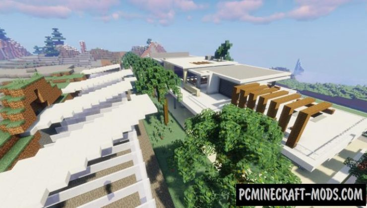 Modern Mansion Map For Minecraft