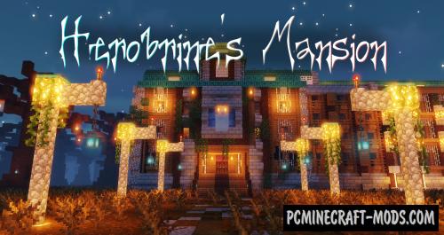 Herobrine's Mansion - Puzzle, Adventure Map For MC
