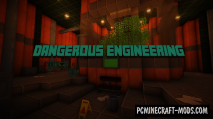 Dangerous Engineering - Puzzle, Adv Map For Minecraft