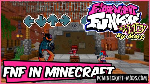 Friday Night Funkin' vs Whitty Map For Minecraft