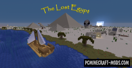 The lost egypt - Adventure, Puzzle Map For MC