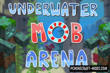 Underwater Mob Arena Map For Minecraft