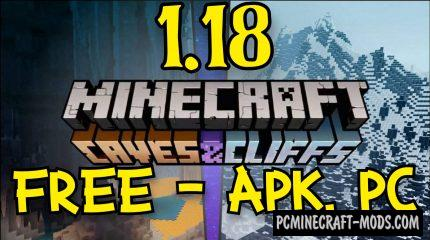Download Minecraft 1.18, V1.18.0.21 Caves and Cliffs free APK